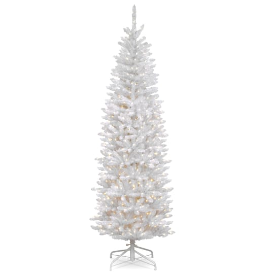 Buy The 7 Ft Pre Lit White Kingswood Fir Pencil