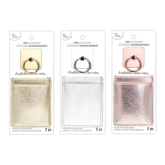 Assorted Phone Ring with Card Holder By Bead Landing™