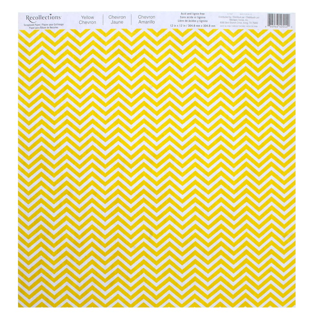 Chevron Scrapbook Paper By Recollections