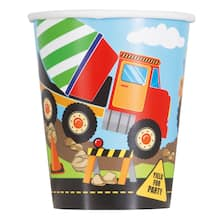 Construction Party Cups Construction Birthday Cups Baby Shower Under Construction Party Supplies Digger Party Baby Under Construction
