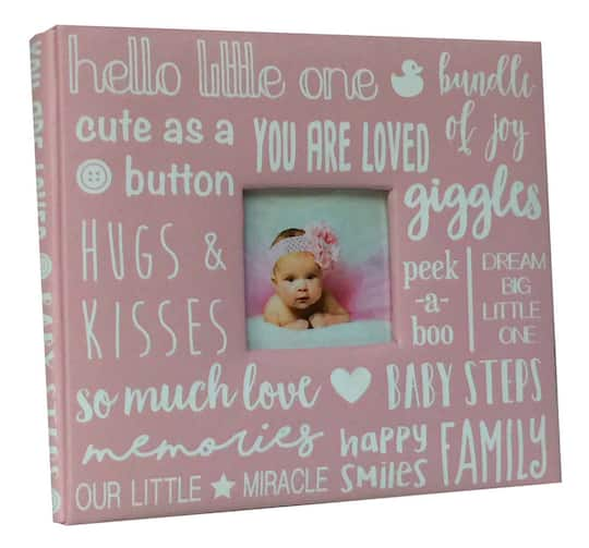 Buy The Pink Baby Girl Scrapbook By Recollections At Michaels