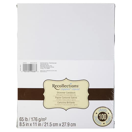 Cardstock Paper Value Pack By Recollections