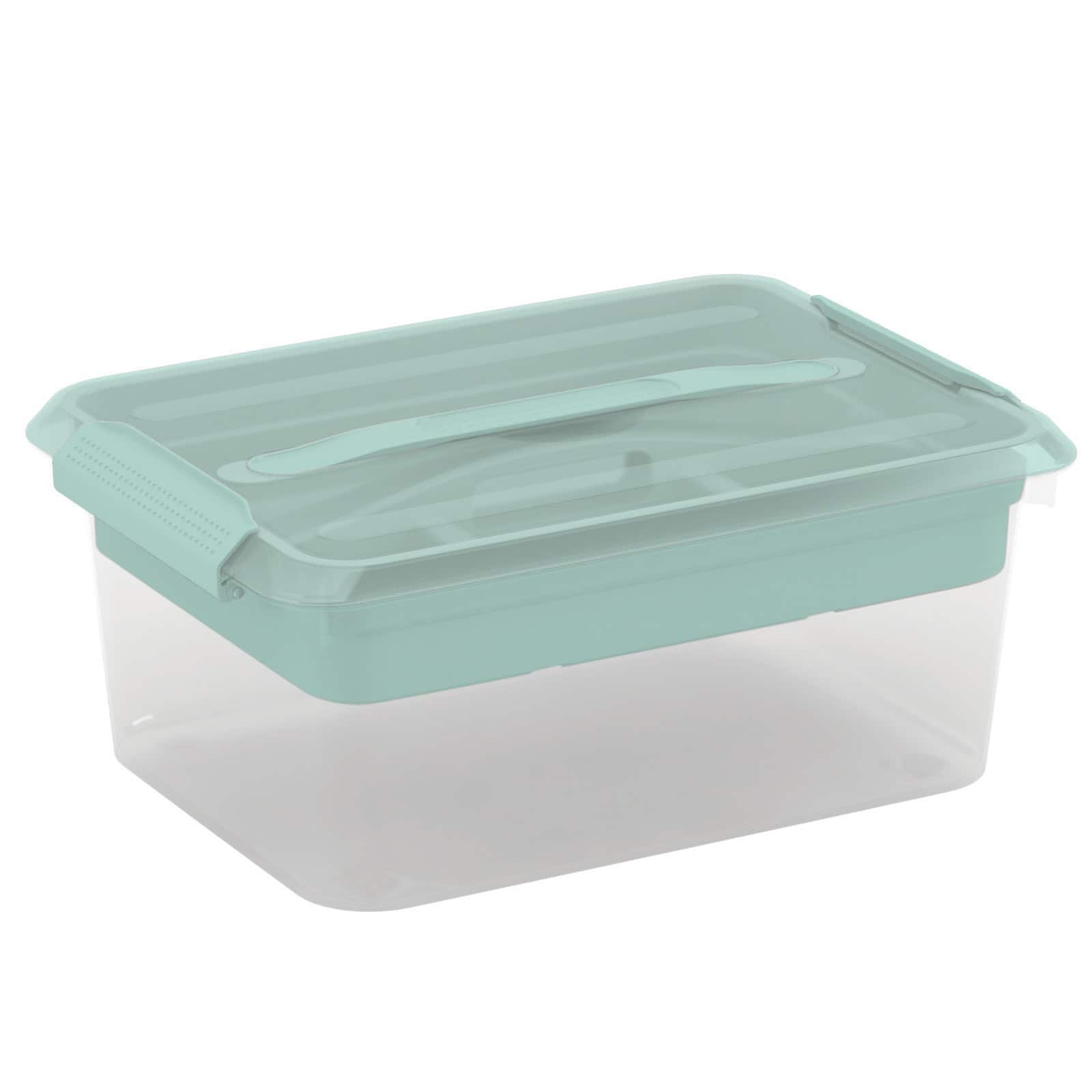Latchmate Turquoise Storage Box With Tray By Recollections™