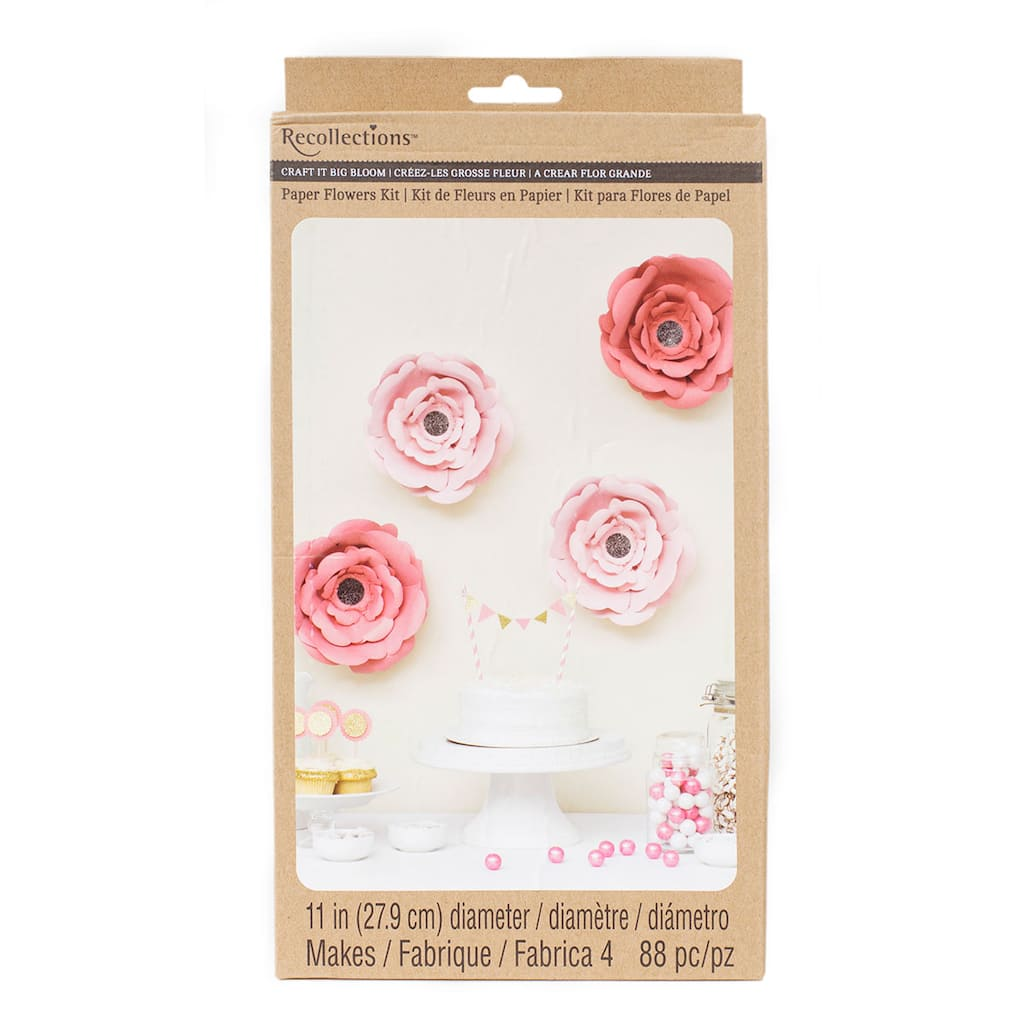 Recollections Craft It Big Bloom 11 Paper Flowers