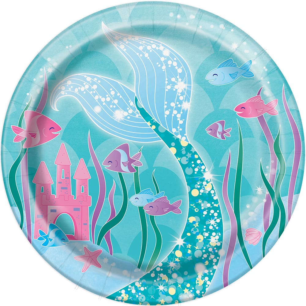 Mermaid Cake Plates | Party Supplies