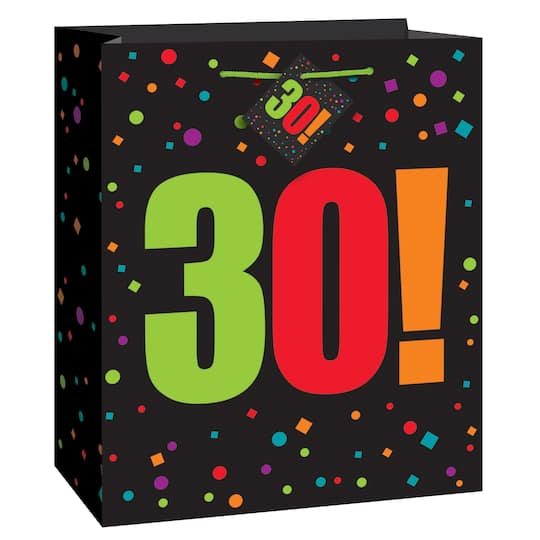 Large Birthday Cheer 30th Gift Bag