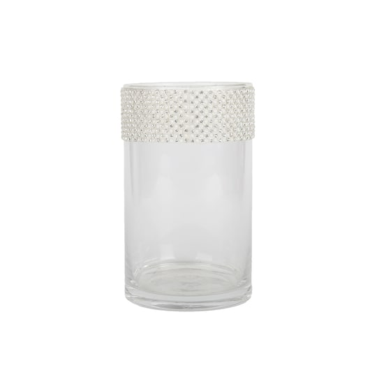Buy The 5 9 Quot Quot Cylinder Glass Vase With Pearl Amp Bling By Ashland 174 At Michaels