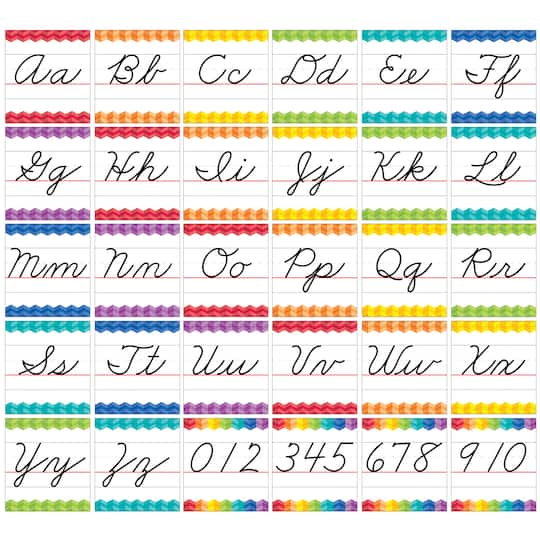 Painted Palette® Cursive Handwriting Alphabet Bulletin Board Set