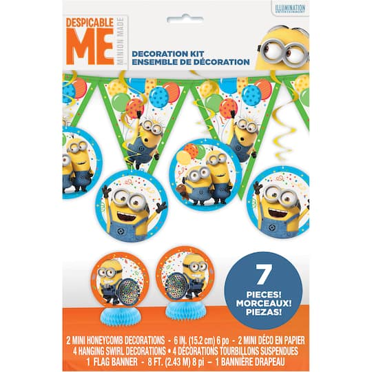 Despicable Me Minions Party Decorating Kit 7pc Img