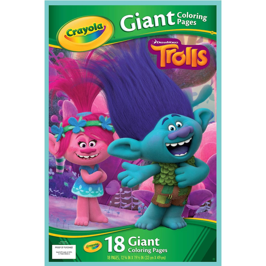 Buy The Crayola 174 Trolls Giant Coloring Pages At Michaels