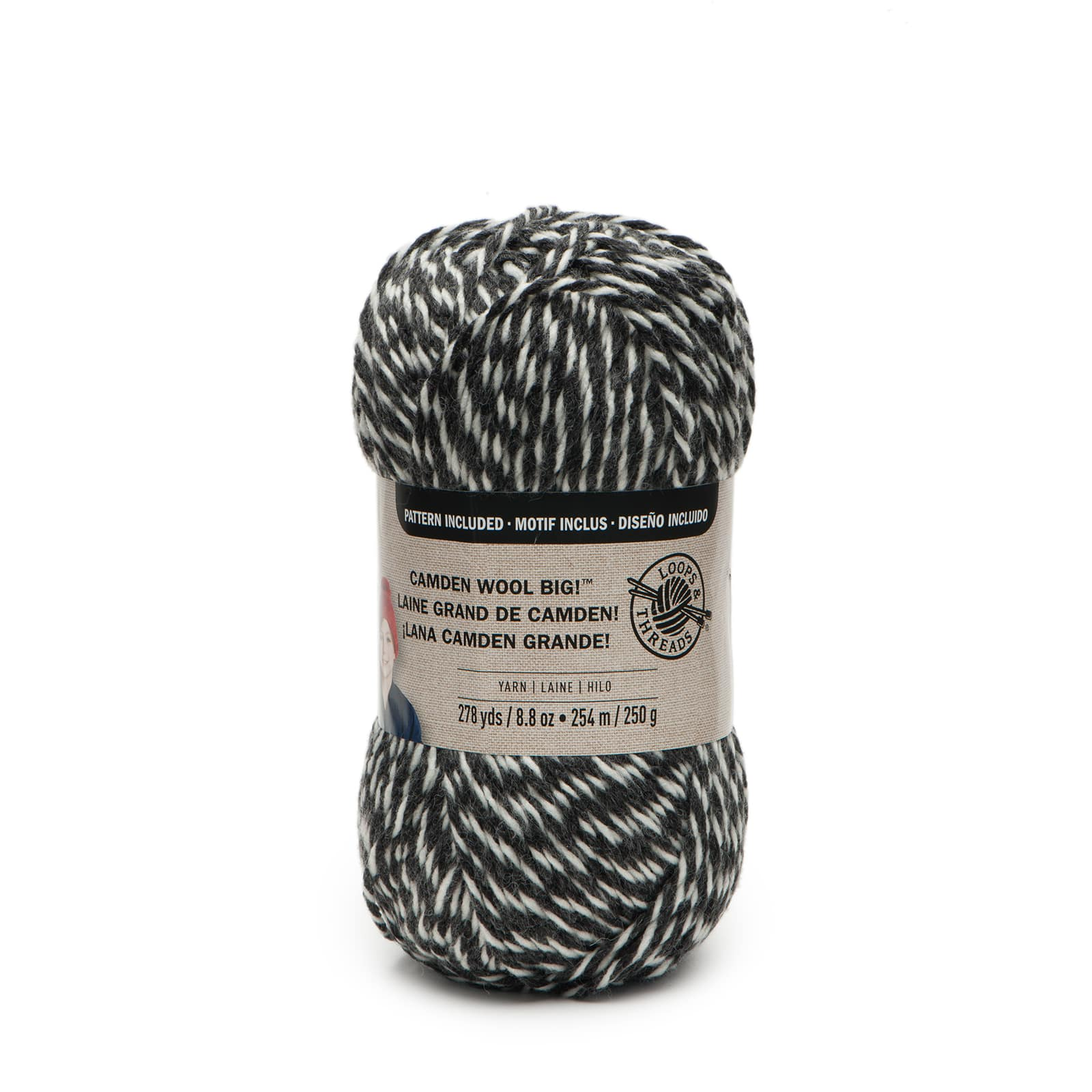 Loops/&Threads Charisma  Big bulky yarn 328 yds Steel 1 large skein gray