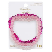 23d4fbca0 signature color shop pink & white bead bracelets by bead landing™