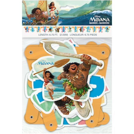 Disney Moana Birthday Party Banner