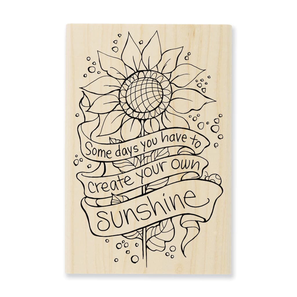 Find The StampendousR CFran Seiford Rubber Stamp Create Sunshine At Michaels
