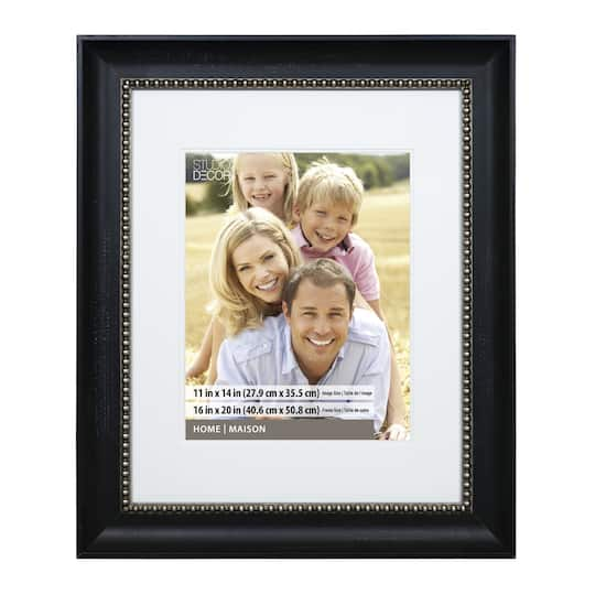 "Shop For The Black Pewter Beaded Frame, 16"" X 20"" With 11"