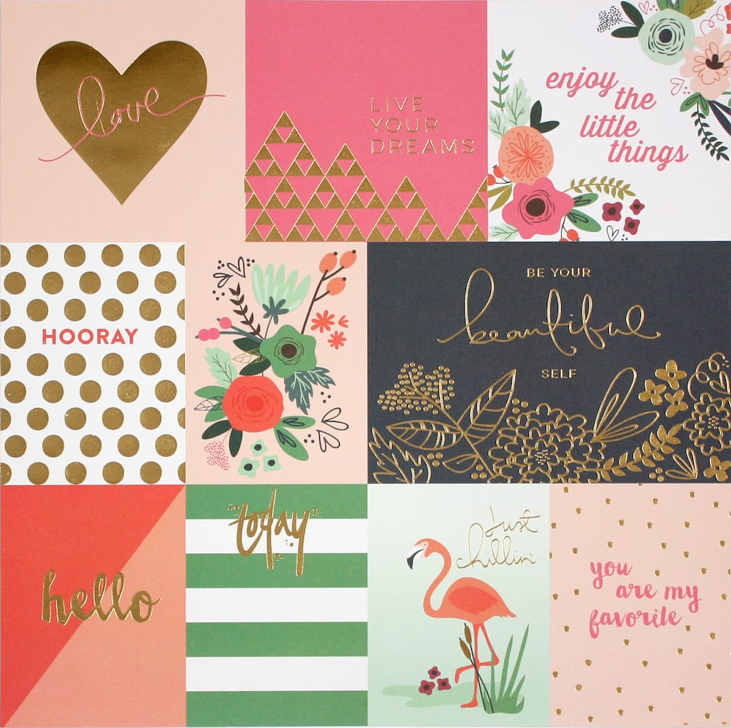 Find The Tropical Cards Double Sided Cardstock Paper By