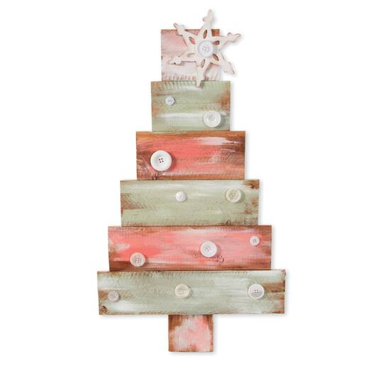Darice Diy Christmas Tree Unfinished Wooden Base 14 X 24 5