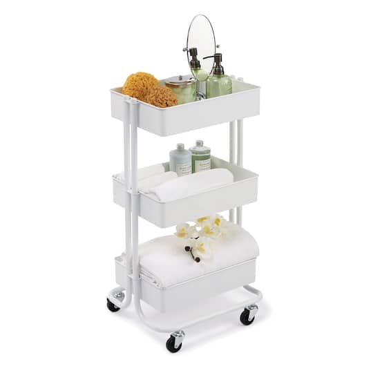 Buy The White Lexington 3 Tier Rolling Cart By Recollections At