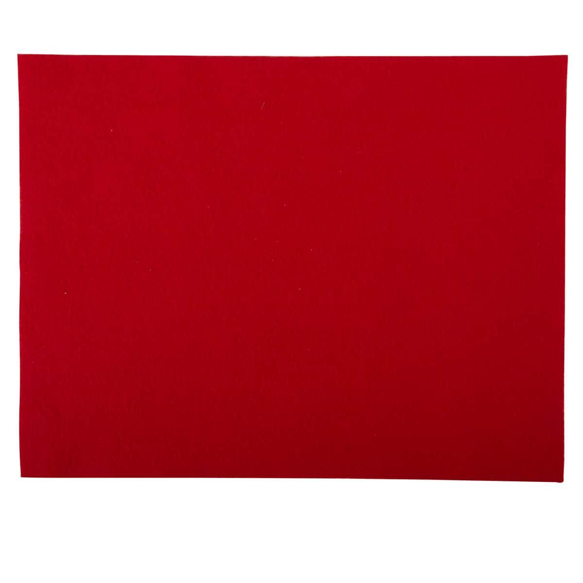 Red felt, 9x12 sheet