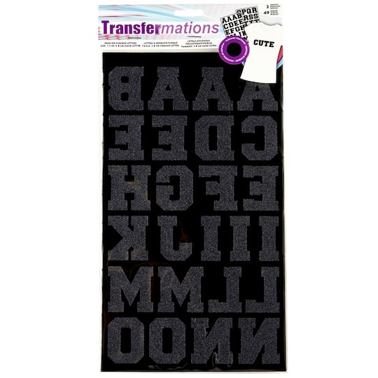 transfermations™ iron-on flocked letters, athletic