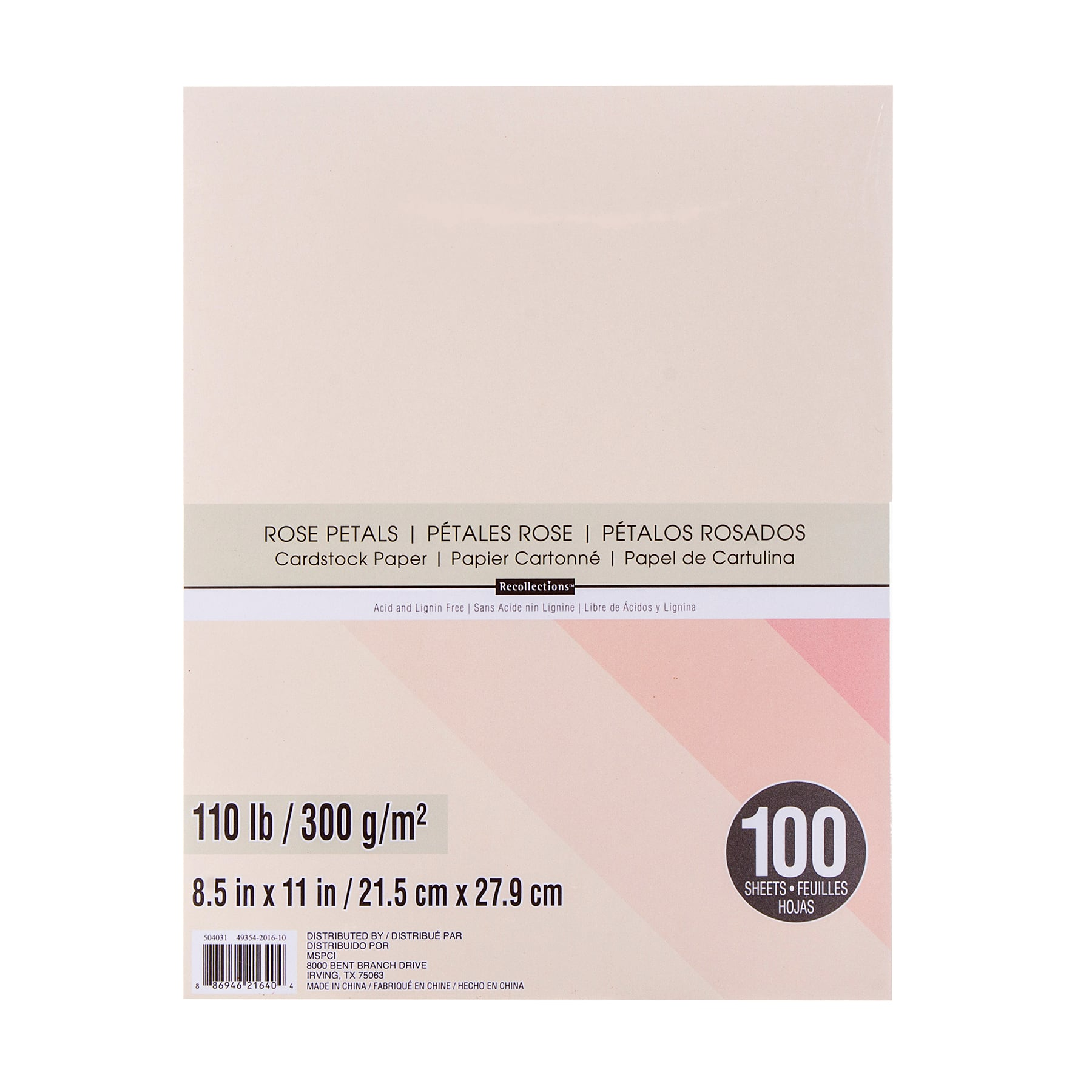 """Rose Petals Cardstock Paper By Recollections™, 8.5"""" X 11"""" by Recollections"""