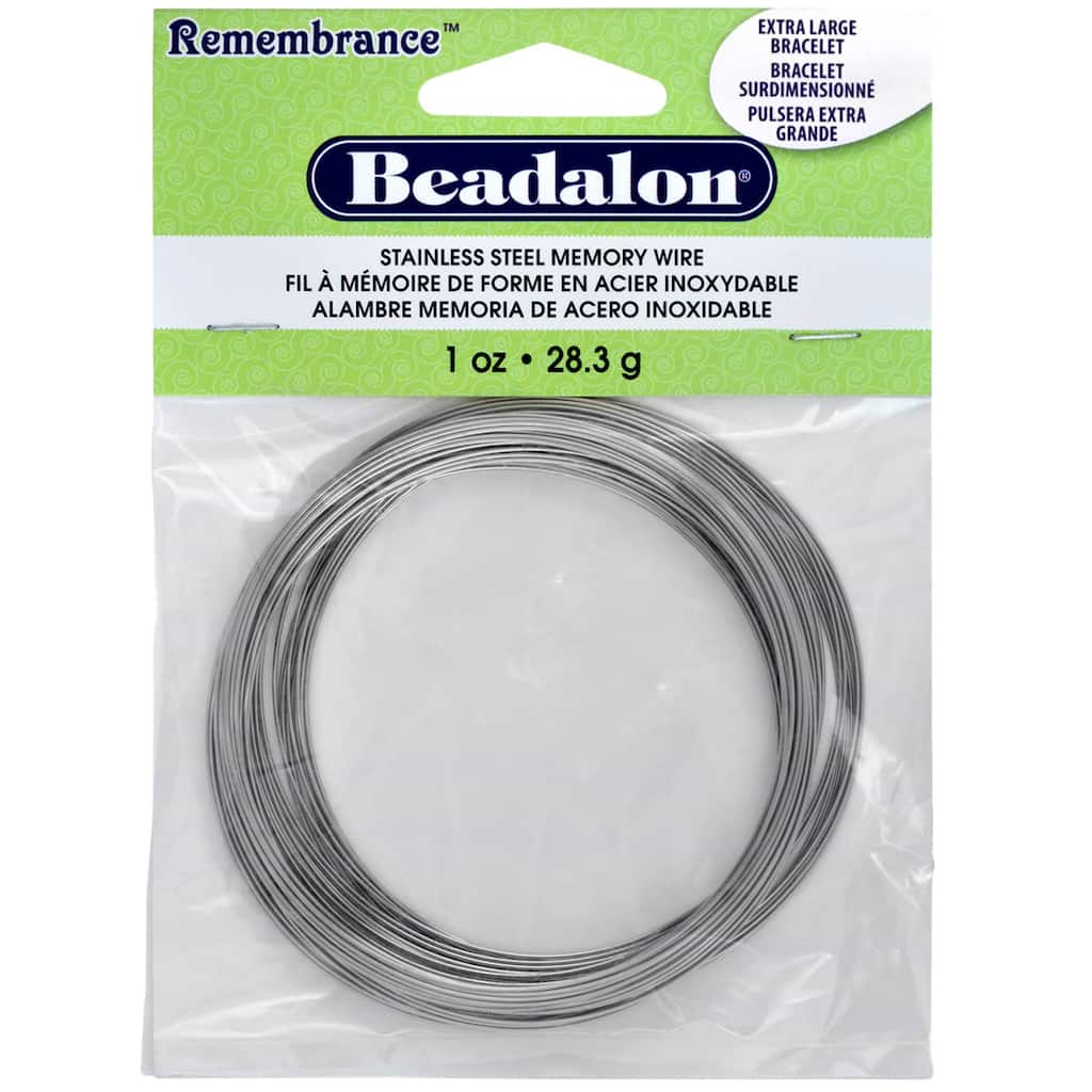 1 Oz. Stainless Steel Memory Wire #WRN004 Large Bracelet