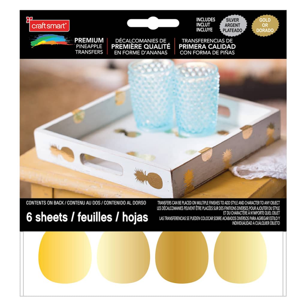 Find The Craft Smart Metallic Decal Sheets Gold Silver
