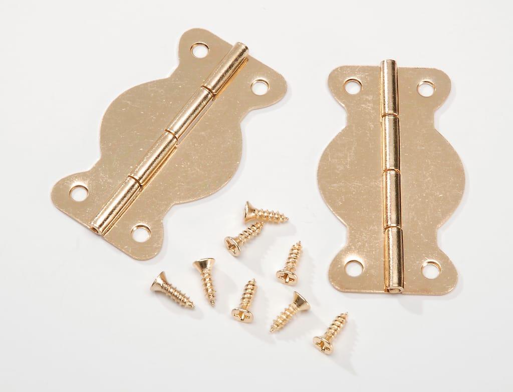 Darice Wavy Craft Brass Hinge Set