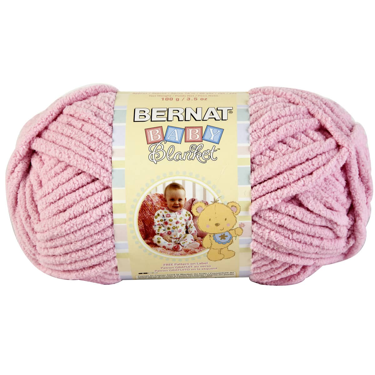 lot of 2 72 yds each Little Petunias Bernat Baby Blanket plush yarn