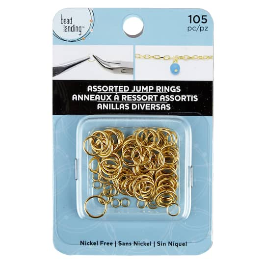 TUT 50Pcs Keychain Rings Clasp with 8mm Open Jump Ring and Connector for Crafts DIY Gold and Silver