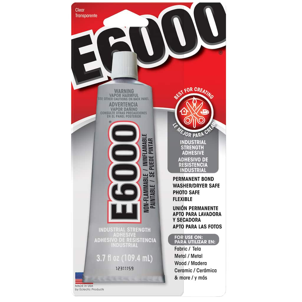 E6000® Permanent Craft Adhesive, 3 7 oz