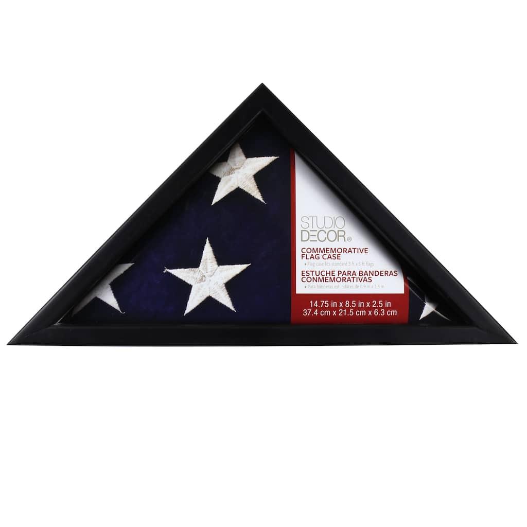 Black Commemorative Flag Case by Studio Décor®