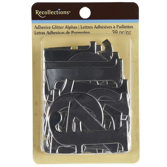 Alphabet Foil Silvers: Recollections™ Adhesive Foil Chipboard Alphabet, Silver