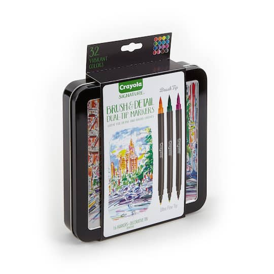 Shop for the Crayola® Signature™ Brush & Detail Dual-Tip Markers at ...