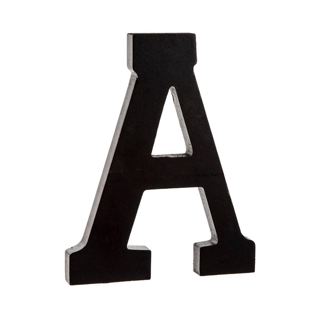 Q Munch Oversized Black Wood Letters