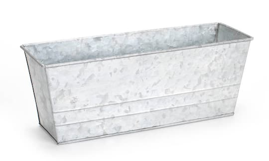 Metal Planter With Plastic Liner Galvanized Tin