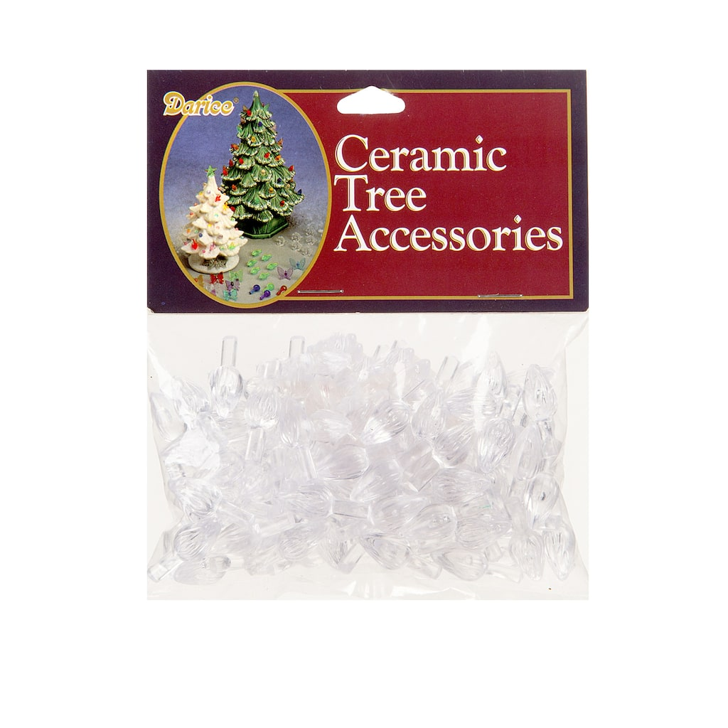 Replacement Ceramic Christmas Tree Lights Clear Flame Shaped 5 8 Inch