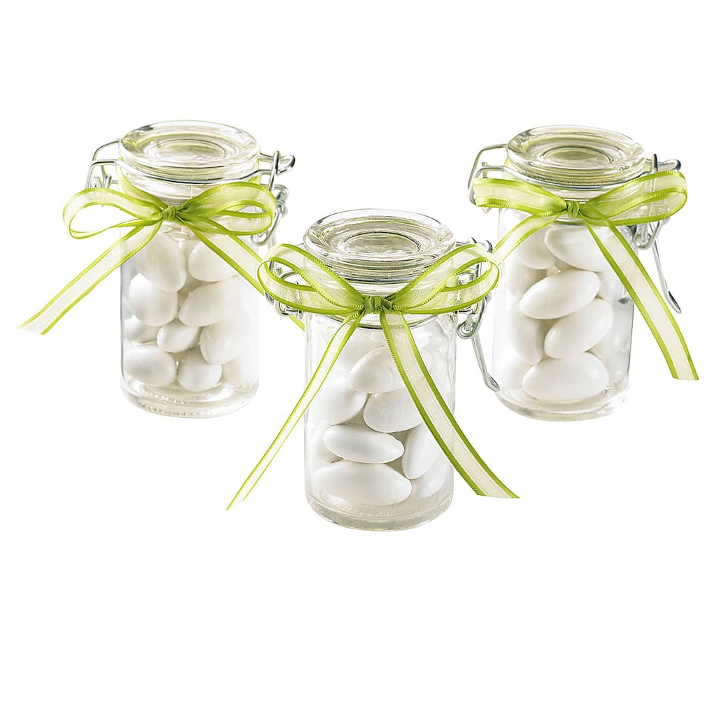 Celebrate It Occasions Glass Snap Top Favor Jars
