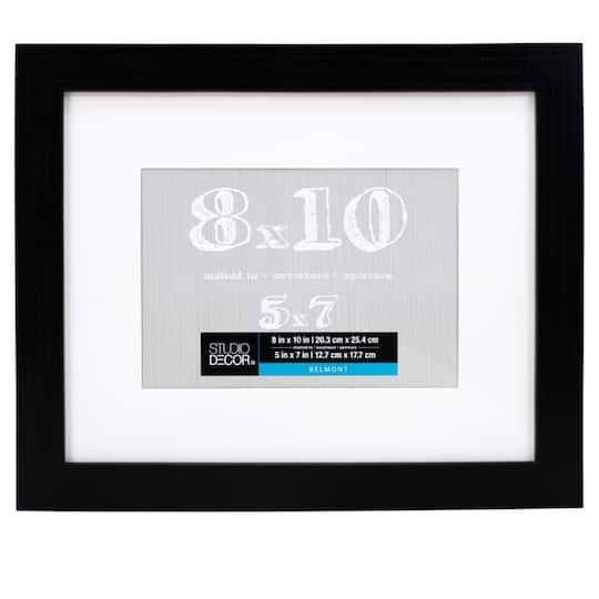 Black Belmont Frame With Mat By Studio Dcor