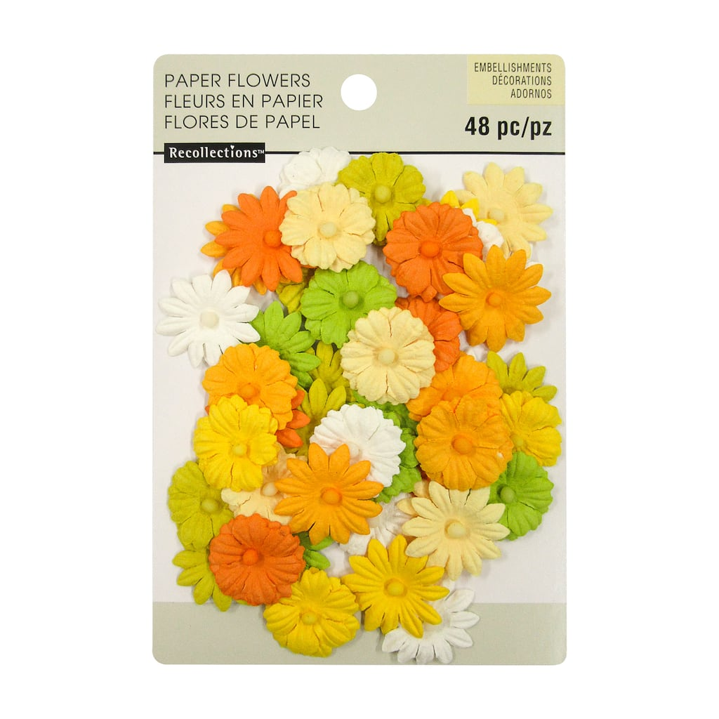Shop For The Mixed Daisy Paper Flower Embellishments By