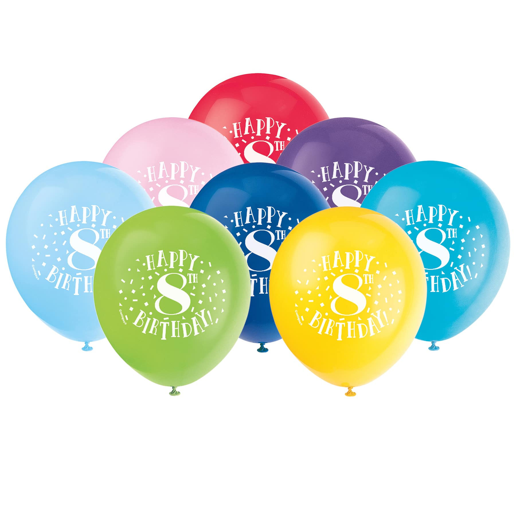 Happy 8th Birthday Balloons 8th Birthday Party Decorations