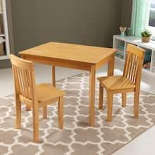 KidKraft Avalon Table II & 2 Chair Set, Natural
