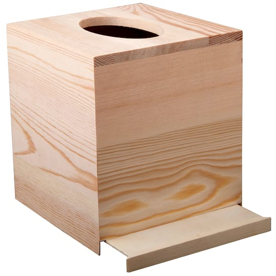 Wood Tissue Box By Artminds