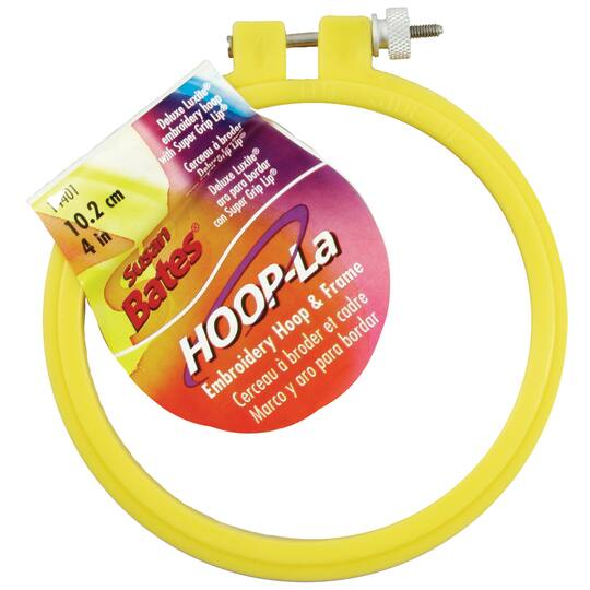 Susan Bates Plastic Deluxe Super Grip Embroidery Hoop 4-1//2 by 9-Inch