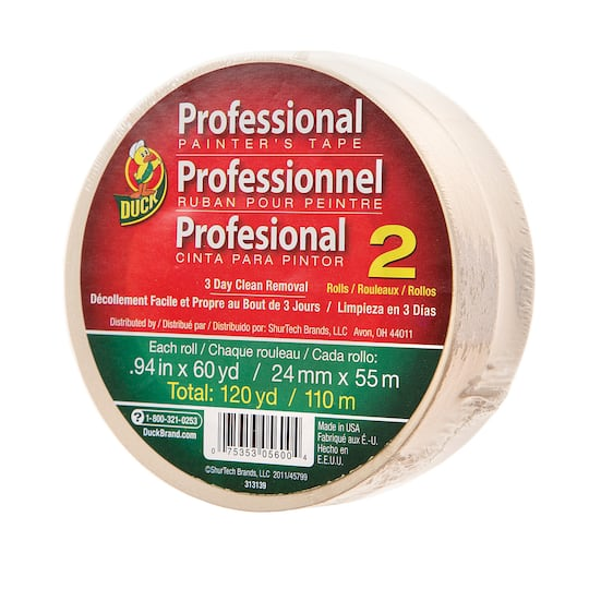 2 Duck Professional Painter S Tape Rolls 0 94 Inches X 60 Yards