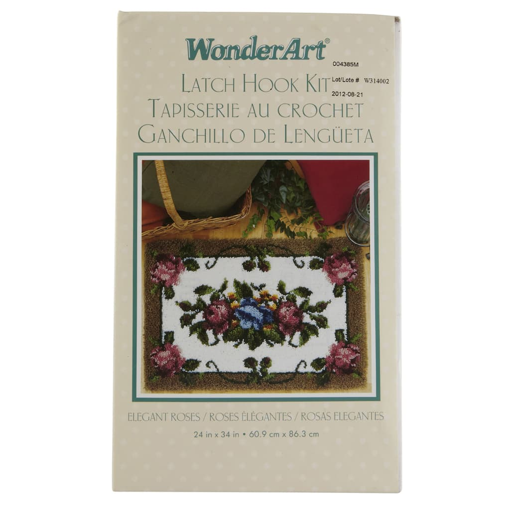 Wonderart Latch Hook Kit Elegant Roses