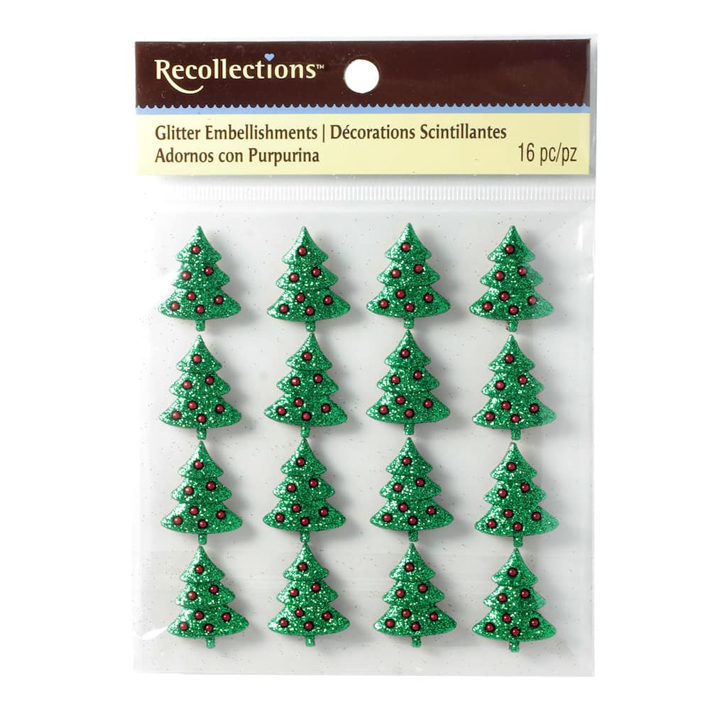 recollections glitter embellishments christmas tree img