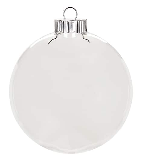 Ornaments Christmas.Clear Plastic Ornaments 100mm Disc Christmas Ornament