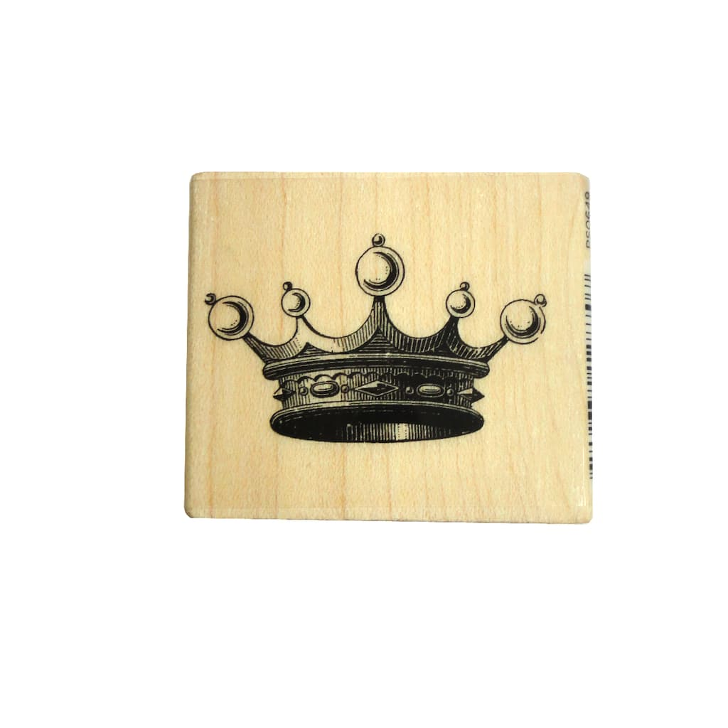 Shop For The Hampton ArtTM Diffusion Rubber Stamp Crown At Michaels