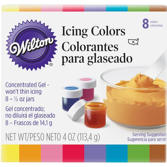 Wilton® Gel Icing Colors, 8 Pieces